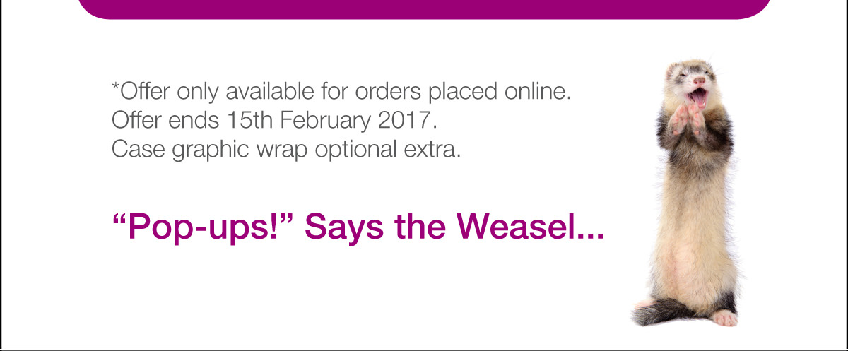 Online orders only. Offer ends 15th Feb.