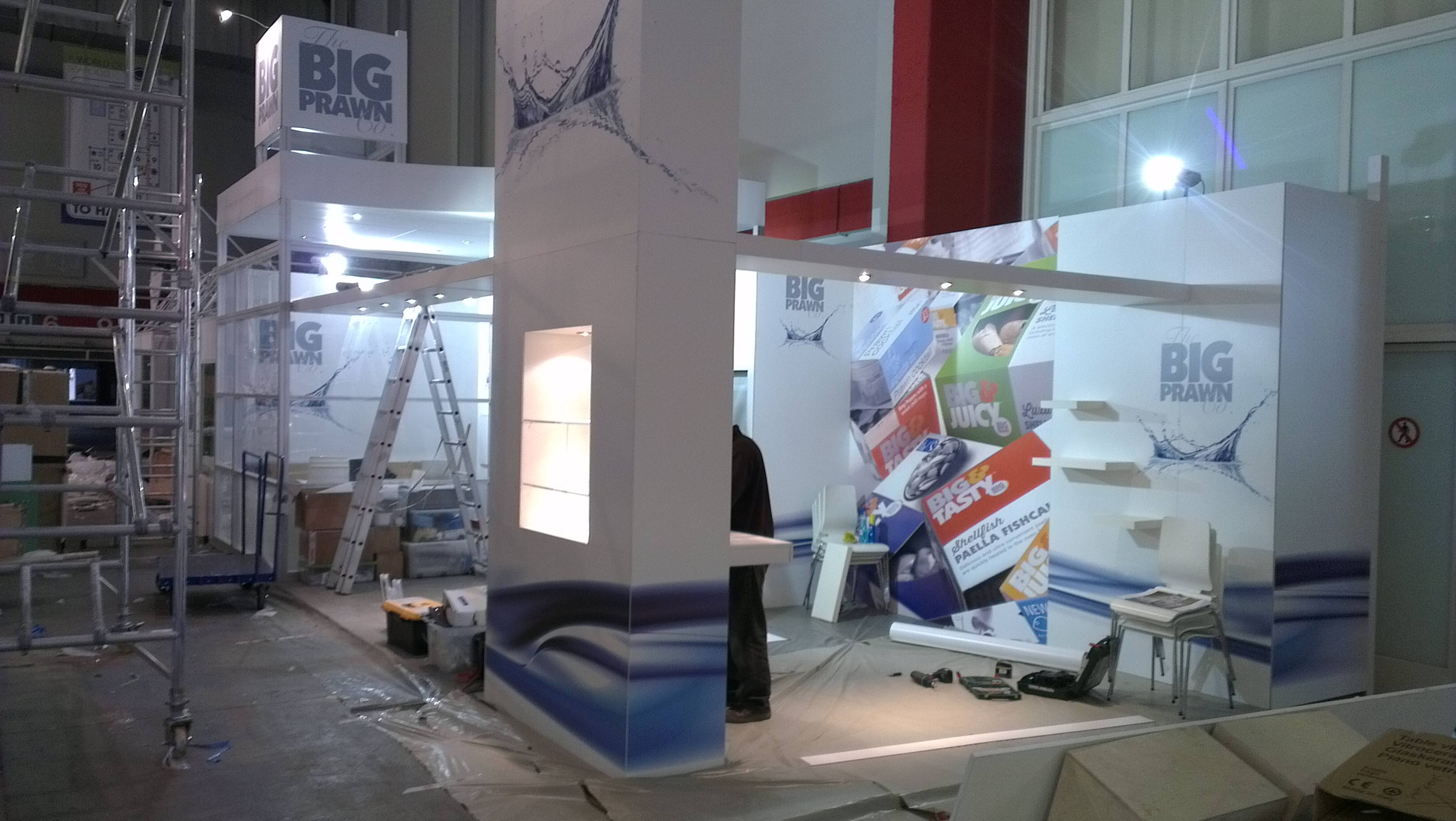 European Exhibition Stand Builders : Big prawn exhibition stand at the european seafood