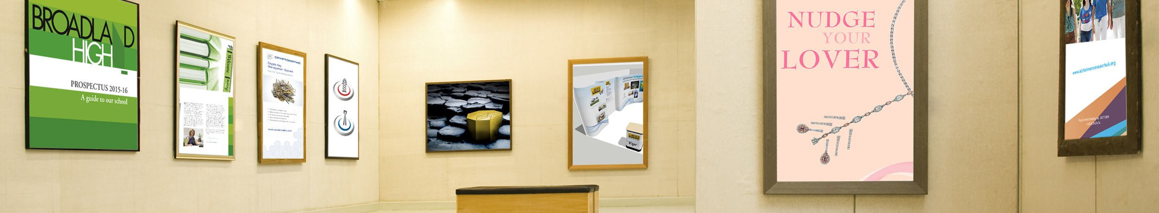 Framed pictures featuring our Design works