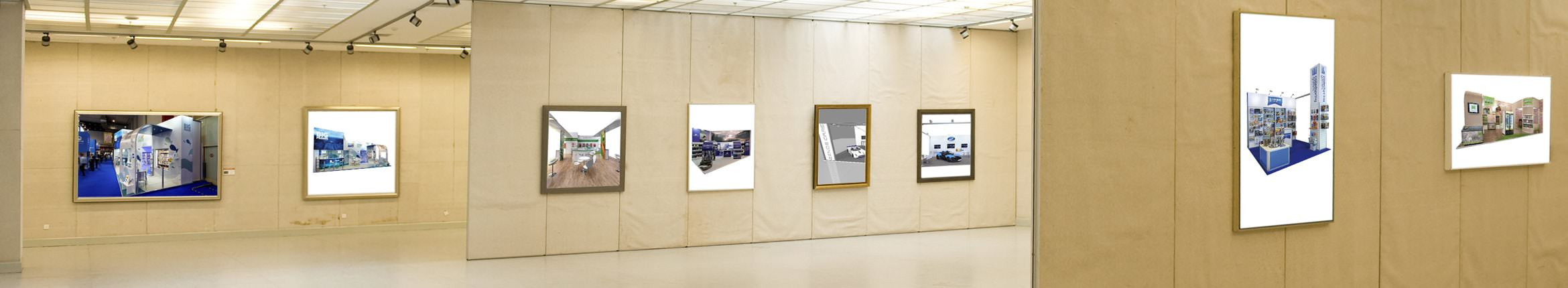 A gallery of exhibition works