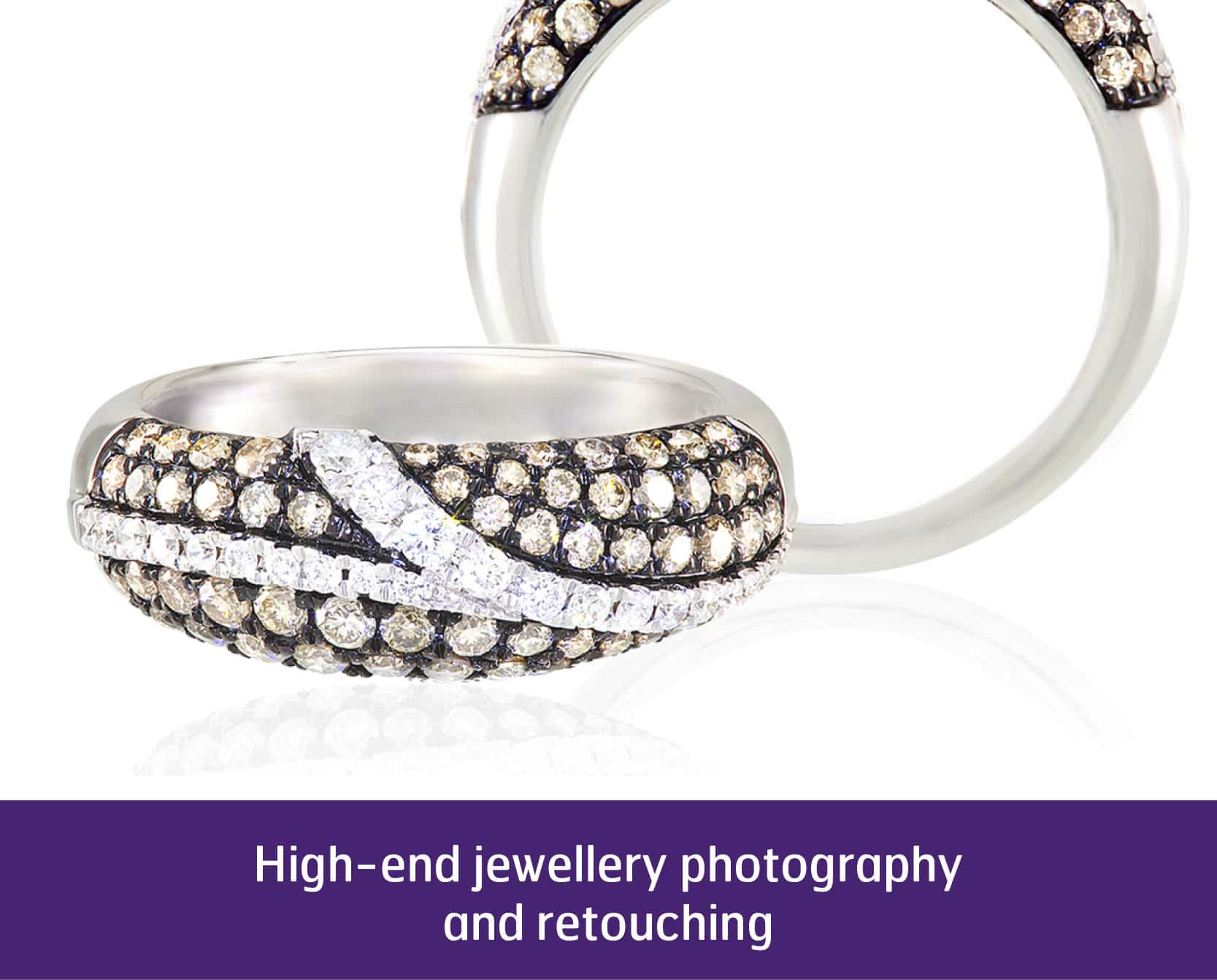 Professional image of diamond ring
