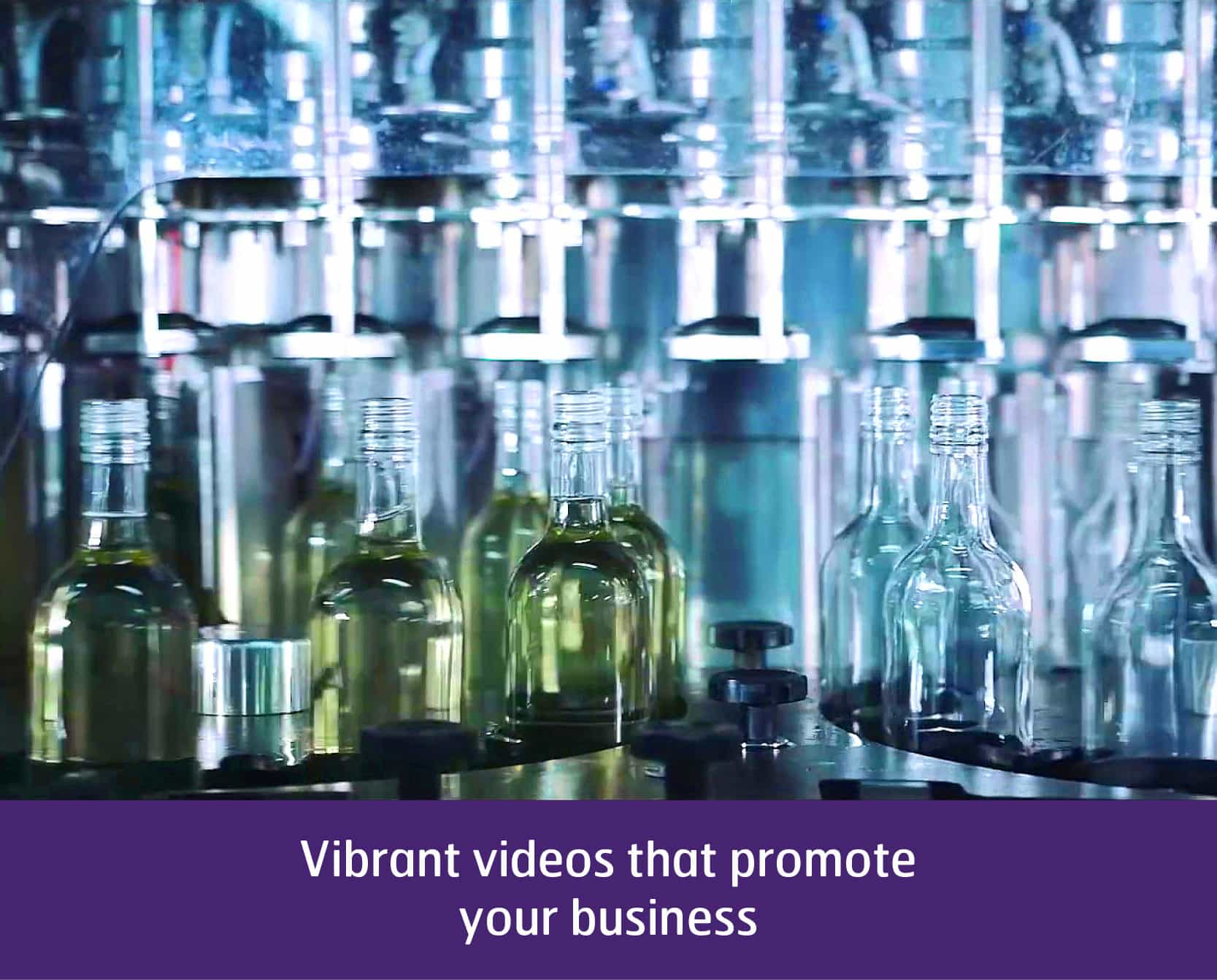 Video of wine bottles in factory
