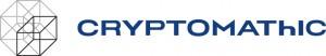 Cryptomathic logo in blue