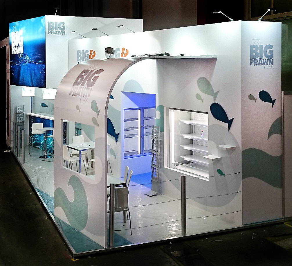 Big Exhibition Stand Design : Exhibition stand design for the big prawn ggs norwich