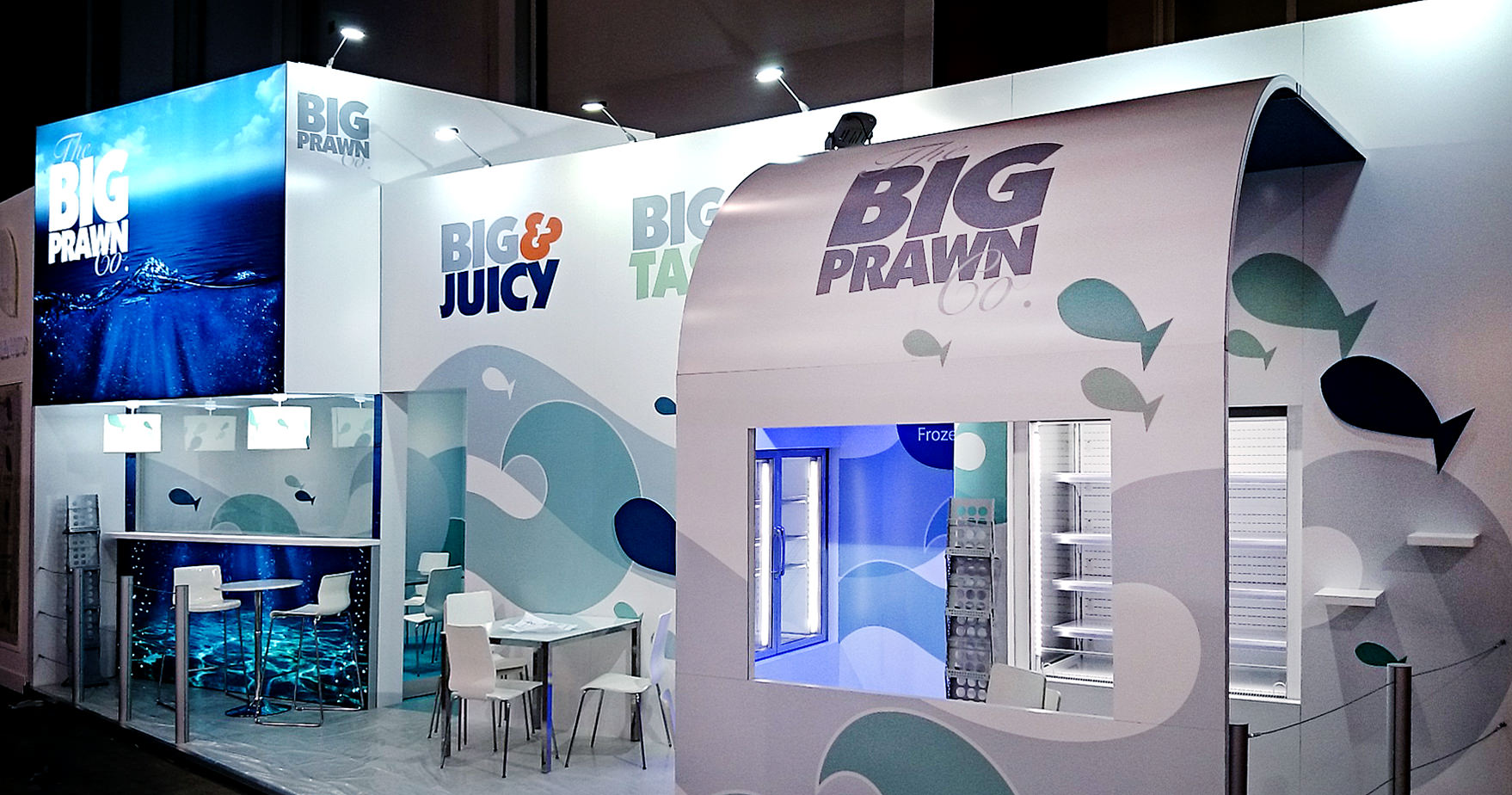 Exhibition stand for The Big Prawn Company