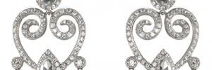 Diamond dangly pair of earrings