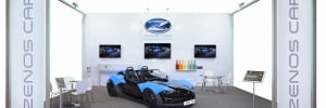 Zenos Cars stand at Autosport