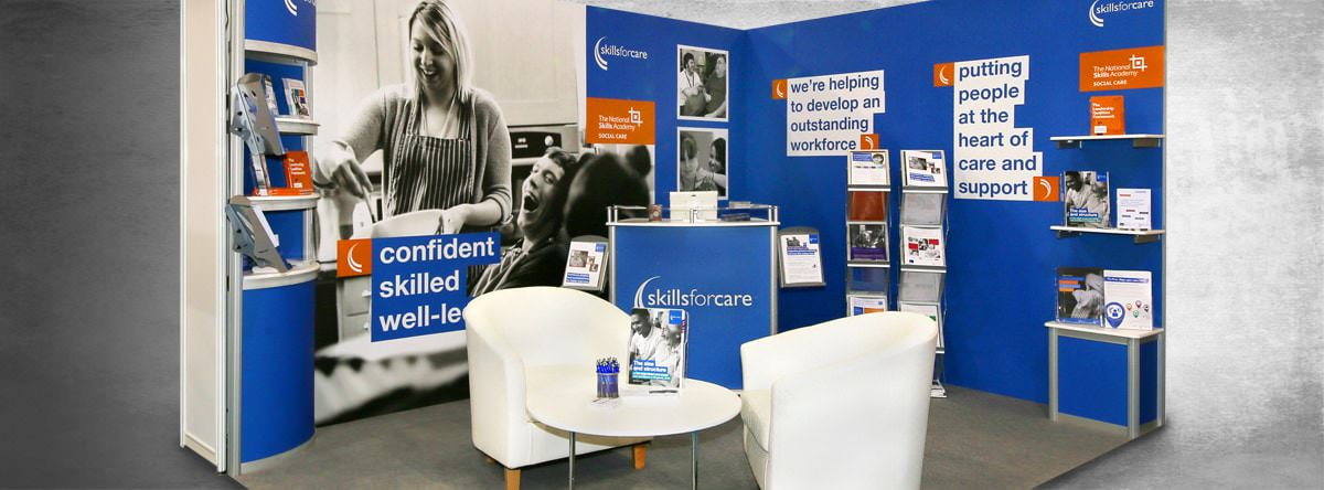 Skills for care stand space using shell schemes and furniture