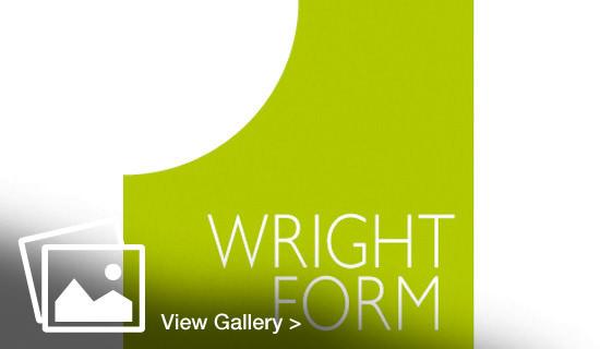 Brand identity for Wrightform, new green logo designed