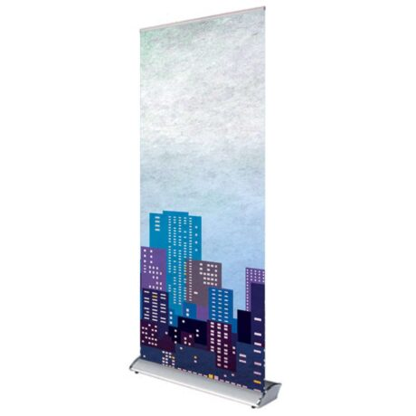 Linkable roller banner stand