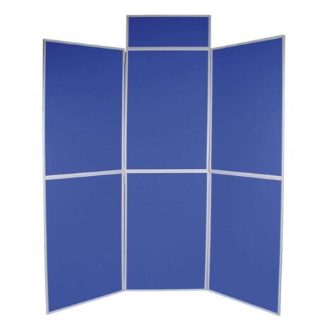 Six panel folding kit in blue