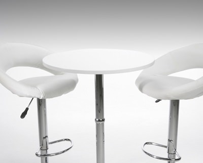 Table and chairs for exhibition hire