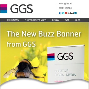 The new buzz banner stand from GGS