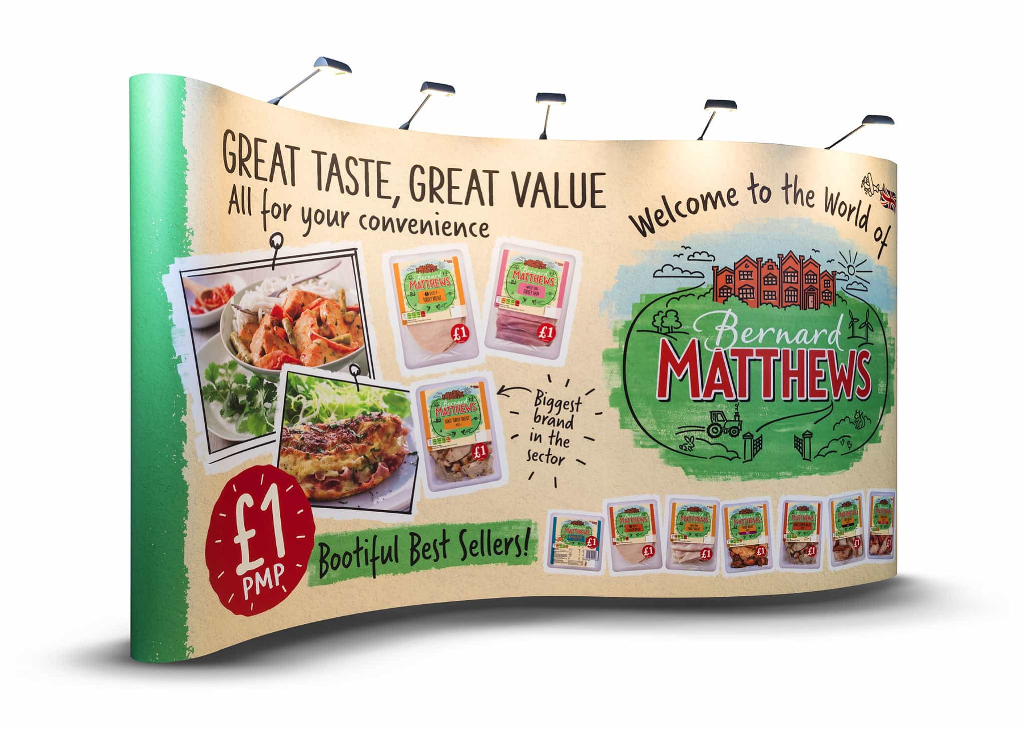 Bernard Matthews Pop-up Stand