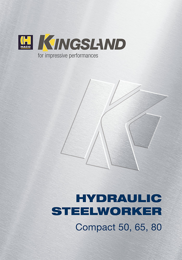 Kingsland engineering brochure design - front cover