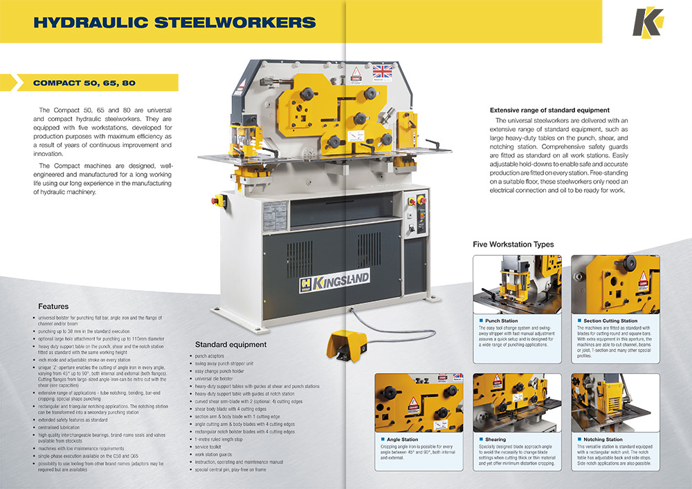 Kingsland engineering brochure design - spread