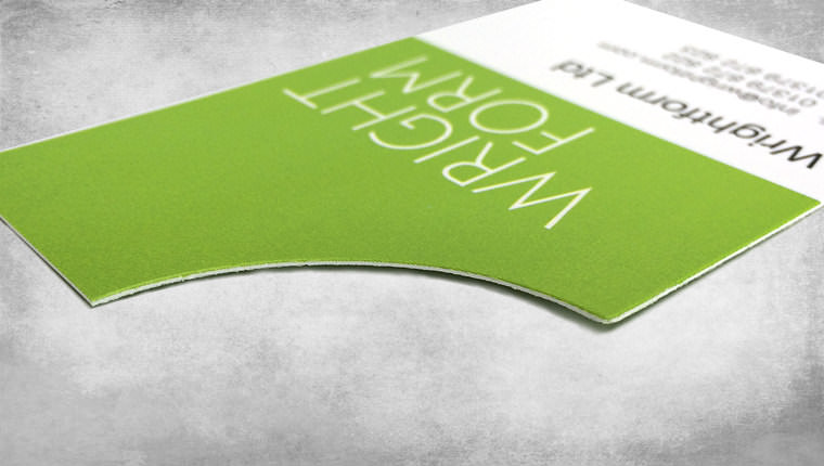Wrightform business card created by GGS Graphic Designers in Norwich