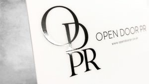 Open Door PR business card and printing by GGS