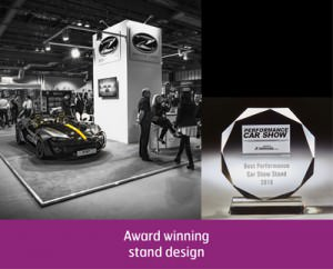 Our Stand design which won an award