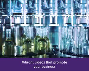 Video of wine bottles in factory