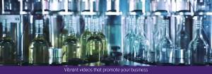 Wine bottle in factory screen grab taken from corporate video