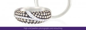 Jewellery photography and retouching services in Norwich