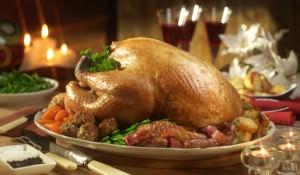 Roast Turkey dinner at Christmas
