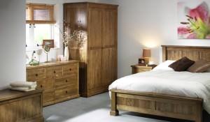 Wooden furniture in bedroom