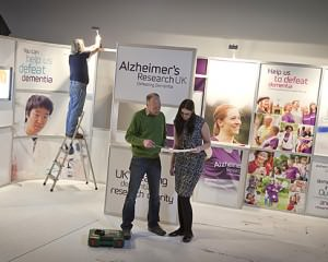 Shell scheme graphics for Alzheimers Research UK