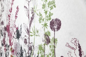 Textured floral wallpaper for hospital ward