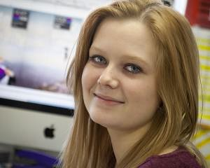 Kate Pritchard on work experience at GGS