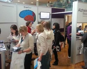 Alzheimers stand in use at the show