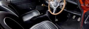 Interior of a classic car