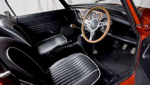 Interior of a classic car