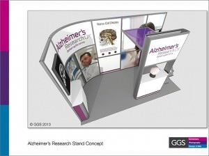 Stand concept for Alzheimer's Research