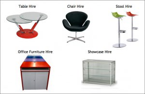 Furniture hire for exhibition stands