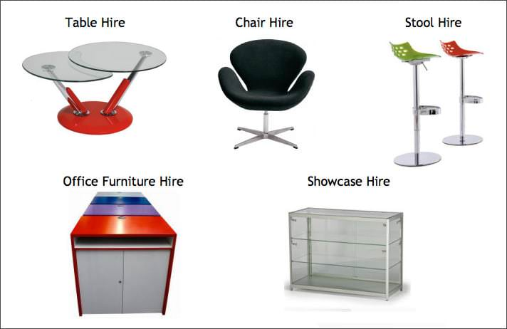Exhibition furniture hire for Furniture hire uk
