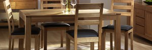 Wooden table and chairs professional furniture photography