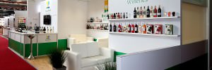 Bar style exhibition stand for Broadland Wineries