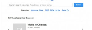 Google Trends example screen shot