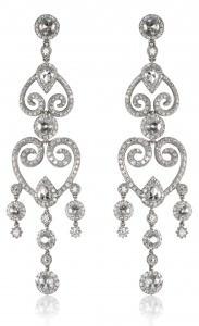 Diamond dangly pair of earrings