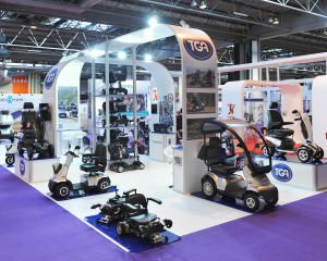 TGA stand design featuring mobility products