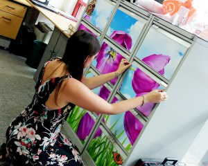Decorating the office with bright attractive image