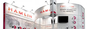 Hamlin electronics exhibition stand