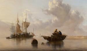Painting of ships on ocean digital copy