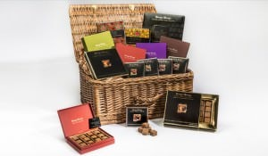 Basket of chocolates product photography