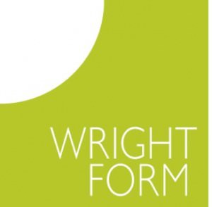 Brand identity for Wrightform, new green logo designed