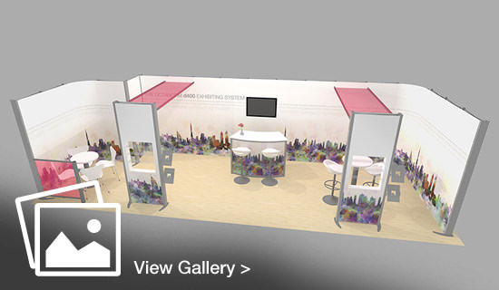 3D stand visual view from above