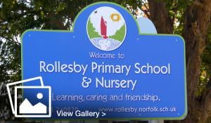 Large format printing and design for Rollesby Primary Sign