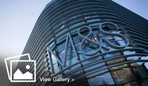 M&S sign on building exterior